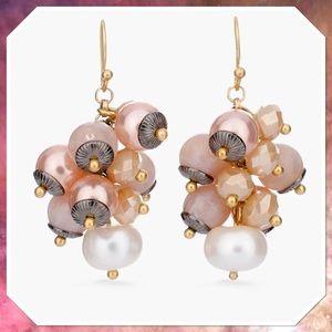 Chico's Emori Blush Cluster Earrings